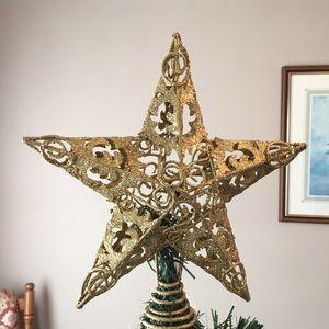 Other - 🌹NWOT METAL 3D Vintage Christmas Tree Topper